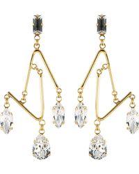 Erickson Beamon 'falling Water' Swarovski Crystal Angular Bar Drop Earrings - Metallic
