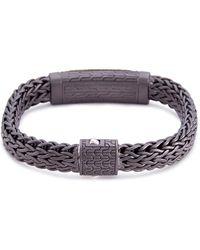 John Hardy - Sapphire Apache Gold Woven Chain Bracelet - Lyst