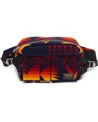 Sacai X Pendleton Geometric Print Corduroy Bum Bag - Multicolour
