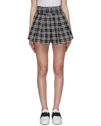 C/meo Collective 'captivate' Belted Check Plaid Flared Shorts - Multicolour