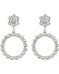Philippe Audibert 'anneau' Swarovski Crystal Hoop Drop Earrings - Metallic