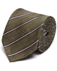 Lardini Striped Regimental Silk Tie - Multicolour
