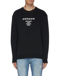 Denham X Medicom Logo Slogan Print Sweatshirt - Black