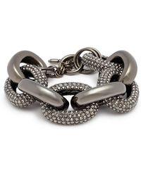 Kenneth Jay Lane - Glass Crystal Interlocking Link Chain Bracelet - Lyst