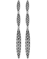 John Hardy - 'classic Chain' Silver Drop Earrings - Lyst