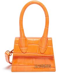 Jacquemus 'le Chiquito' Micro Croc Embossed Leather Top Handle Bag