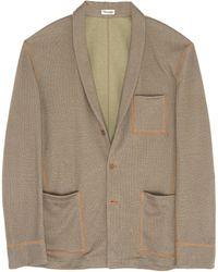 Camoshita Shawl Collar Knit Jacket - Multicolour