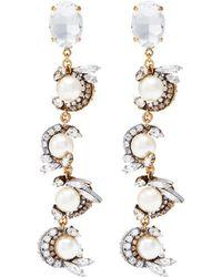 Erickson Beamon - 'delicate Balance' Swarovski Crystal Faux Pearl Drop Earrings - Lyst