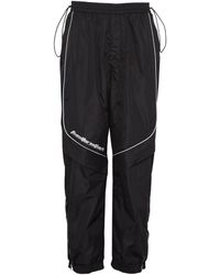 Juun.J - Slogan Print Contrast Piping Paneled Track Pants - Lyst