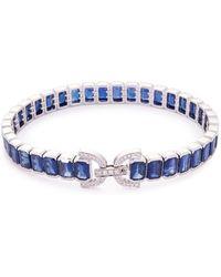 LC COLLECTION - Diamond Sapphire 18k White Gold Bracelet - Lyst