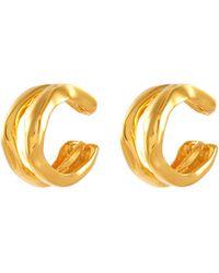 MISHO 22k Gold-plated Bronze Ear Cuffs Women Accessories Fashion Jewelry Earrings 22k Gold-plated Bronze Ear Cuffs - Metallic