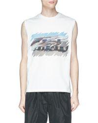 Lyst - Raf Simons American Flag-print Cotton Tank Top in White for Men ddc4856fa