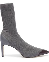 Pedder Red - 'japera' Contrast Toe Sock Knit Boots - Lyst