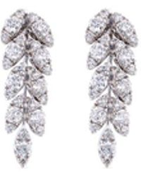 FerrariFirenze 'spiga' Diamond 18k White Gold Vine Earrings