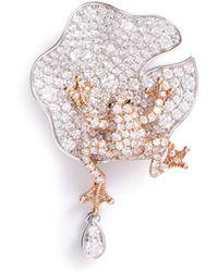 LC COLLECTION 'lucky Charm' Diamond 18k Gold Pendant - Multicolor