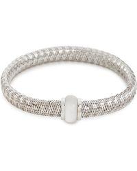 Roberto Coin - 'primavera' Mother-of-pearl 18k White Gold Bangle - Lyst