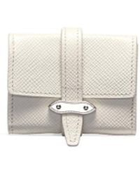 Globe-Trotter Coin Purse – Ivory - White