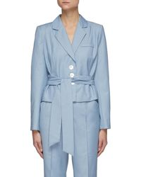C/meo Collective Magnetised' Belted Crisscross Back Blazer Women Clothing Blazers Magnetised' Belted Crisscross Back Blazer - Blue