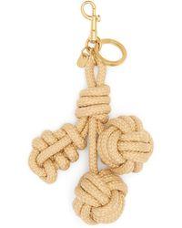 Anya Hindmarch Woven Cherries Smooth Rope Charm - Metallic