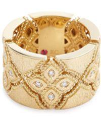 Roberto Coin - 'venetian Princess' Diamond 18k Yellow Gold Ring - Lyst