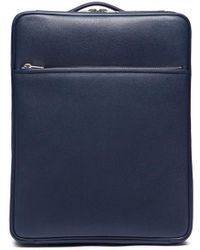 Valextra Leather Trolley - Blue