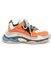 Balenciaga - 'triple S' Stack Midsole Mesh Sneakers - Lyst