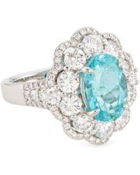 LC COLLECTION - Diamond Paraiba Platinum Ring - Lyst