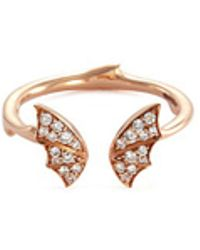 Stephen Webster - Bat Diamond 18k Rose Gold Mini Open Ring - Lyst