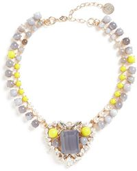 Anton Heunis - 'amy 1.05' Swarovski Crystal Pearl Agate Heart Choker - Lyst