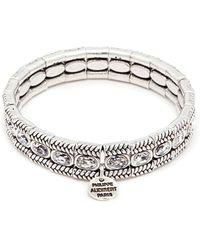 Philippe Audibert - 'claud' Swarovski Crystal Braid Effect Plate Elastic Bracelet - Lyst