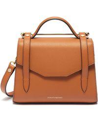 Strathberry 'allegro Mini' Leather Satchel - Brown