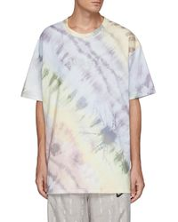Angel Chen Tie-bleach Oversized T- Shirt Men Clothing T-shirts Crew Neck Tie-bleach Oversized T- Shirt - Multicolor