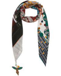 Rumisu Serene Siren Silk Carre Scarf Women Accessories Scarves & Wraps Serene Siren Silk Carre Scarf - Multicolor
