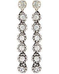 Lulu Frost - 'royale' Glass Crystal Linear Drop Earrings - Lyst