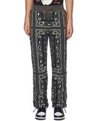 Amiri Bandana Print Fleece jogger Pants - Multicolor