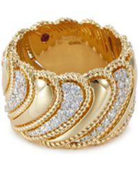 Roberto Coin - 'new Barocco' Diamond 18k Yellow Gold Ring - Lyst