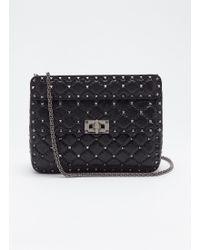 Valentino - 'rockstud Spike' Medium Quilted Leather Shoulder Bag - Lyst