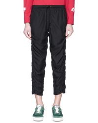 JohnUNDERCOVER - Ruched Outseam Cropped Jogging Pants - Lyst
