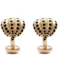 Babette Wasserman Dotted Pumpkin Gold Cufflinks - Metallic