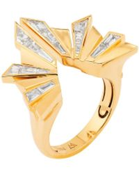Stephen Webster Dynamite' Diamond 18k Gold Cocktail Ring - Metallic