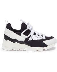 Pierre Hardy 'trek Comet' Patchwork Sneakers - Black