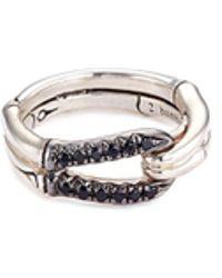 John Hardy - Sapphire Sterling Silver Loop Ring - Lyst