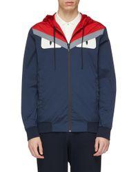 622ab5d9ea6 Fendi -  bag Bugs  Panel Reversible Hooded Jacket - Lyst