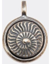 Tateossian 'ammonite' Silver Charm - Metallic
