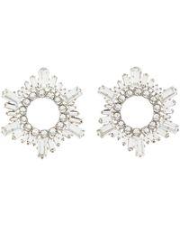 AMINA MUADDI Begum' Crystal Embellished Mini Disk Earrings - Metallic