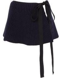 Jil Sander Virgin Wool Knit Belt - Blue