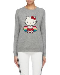 Intarsia Parker X amp; Cashmere Wool Lyst Chinti Graphic Hello Sweater Kitty® WYqwvE5Ed