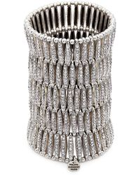 Philippe Audibert | 'almond' Swarovski Crystal Five Row Plate Elastic Bracelet | Lyst