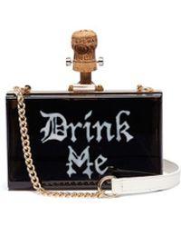 Cecilia Ma - 'drink Me' Champagne Cork Charm Acrylic Box Clutch - Lyst