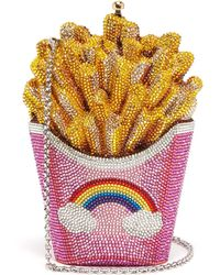 Judith Leiber 'french Fries' Crystal Pavé Minaudière - Multicolour